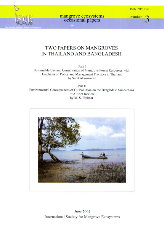 ISME Mangrove Ecosystems Occasional Papers - No. 3